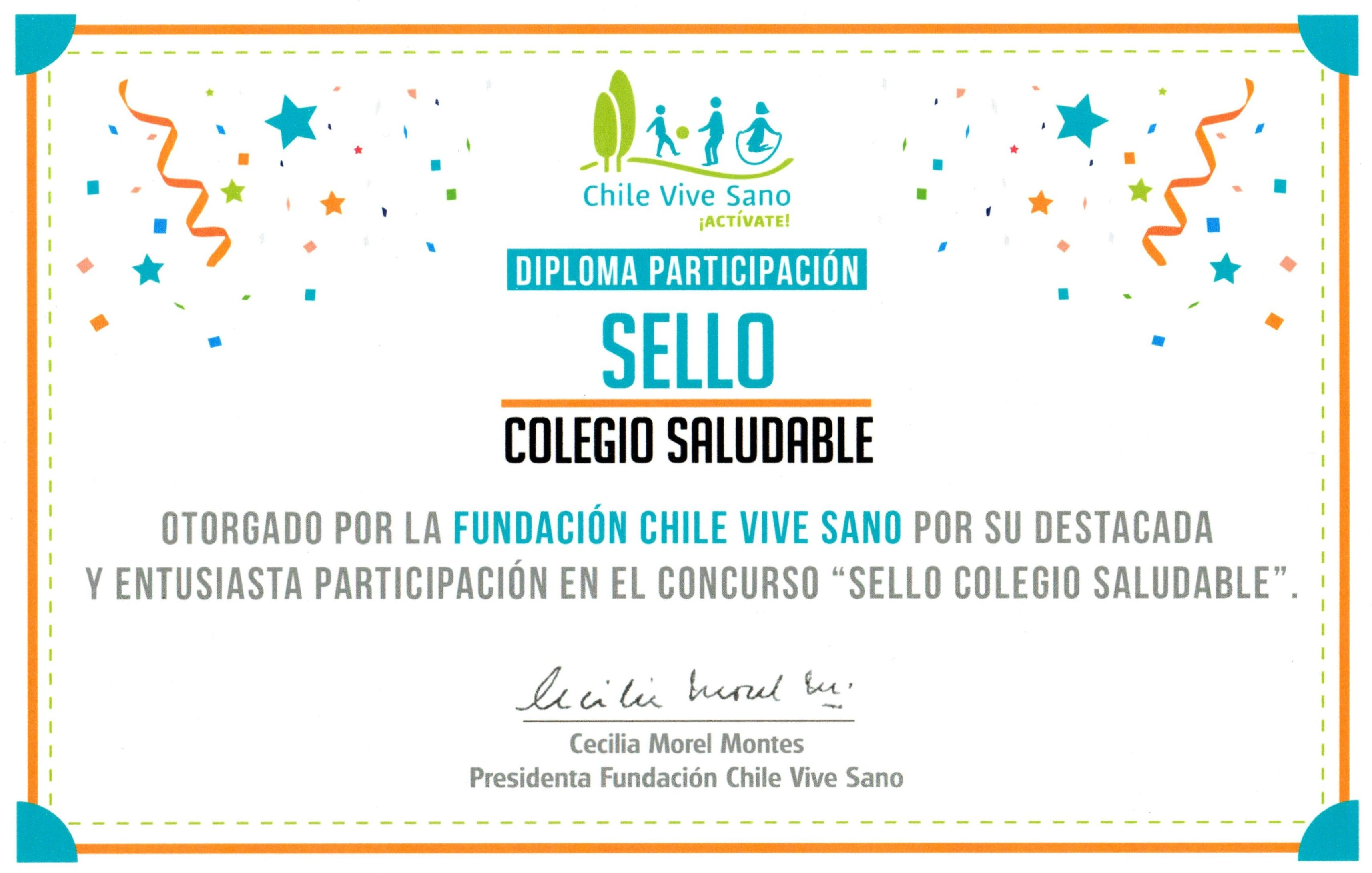 sello colegio saludable
